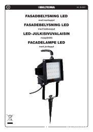 FASADBELYSNING LED FASADEBELYSNING LED LED ... - Biltema