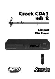 Creek CD43 mk 2