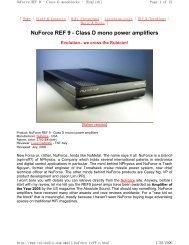 NuForce REF 9 - Class D mono power amplifiers - Jefferson Hifi