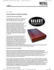 NuForce Reference 9 SE Mono Amplifiers Page 1 of 6 SoundStage ...
