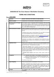 3 - B  CONTEST STANDARD TERMS AND CONDITIONS 1     - Astro