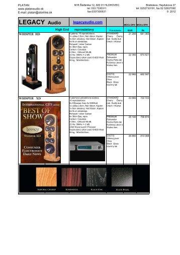LEGACY Audio - Platan Audio