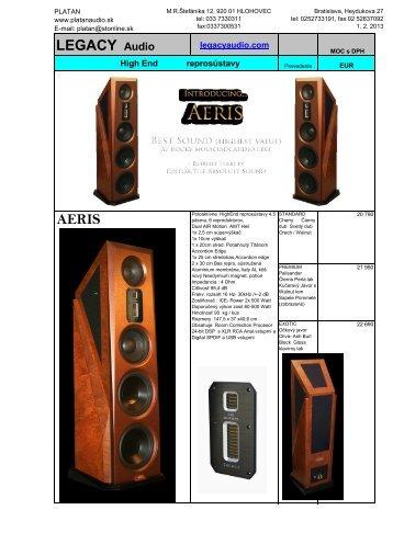 LEGACY Audio AERIS - Platan Audio