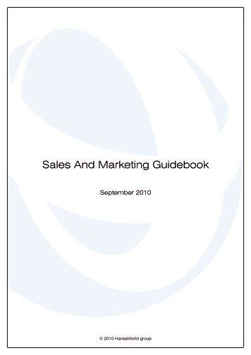 Sales And Marketing Guidebook - HansaWorld