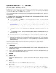 SOFTWARE LICENCE AGREEMENT FOR [NAME OF ... - HansaWorld