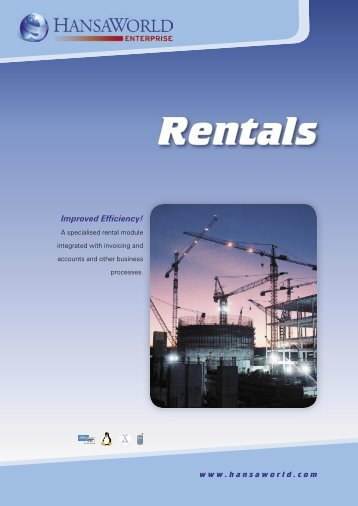 Rentals - HansaWorld