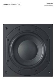 CT8.2 LCR Owner's Manual - Bowers & Wilkins