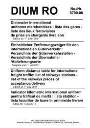 liste des gares - Rail Cargo Austria