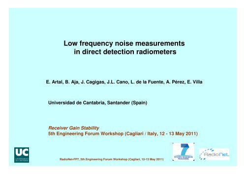 Low frequency noise measurements in direct detection