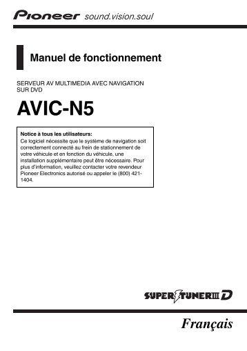 AVIC-N5 - Pioneer Electronics