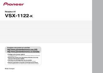 VSX-1122-K - Pioneer