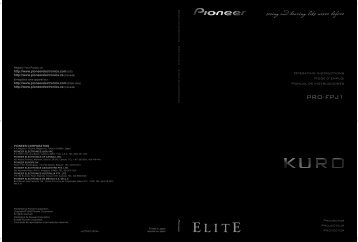 Setting Menu - Pioneer Electronics