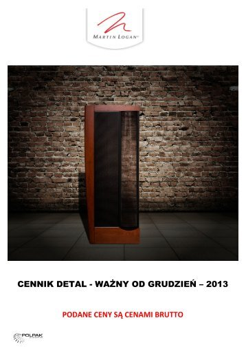 CENNIK DETAL - WAŻNY OD LIPIEC – 2013 ... - Polpak Poland