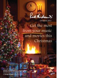 Download Christmas Gift Guide here - Russ Andrews Accessories Ltd