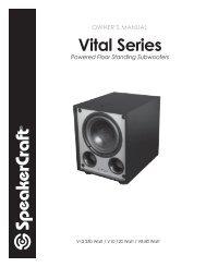 Vital Series Sub Manual - SpeakerCraft