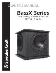 BassX Dual 6 Manual - SpeakerCraft