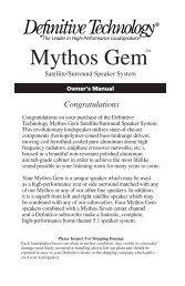 Mythos Gem™ - Definitive Technology