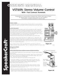 VST60fc Manual - SpeakerCraft