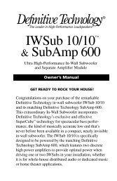 IWSub 10/10™ & SubAmp 600 - Definitive Technology