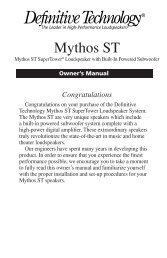 Mythos ST Super Tower Manual - Definitive Technology