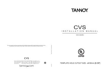 1236 420199 E: enquiries@tannoy.com Tannoy North America T: 00 1
