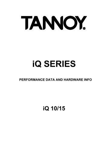 iQ SERIES - Tannoy