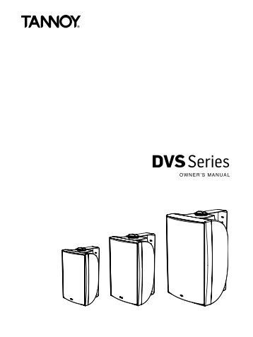 Tannoy DVS Series Manual