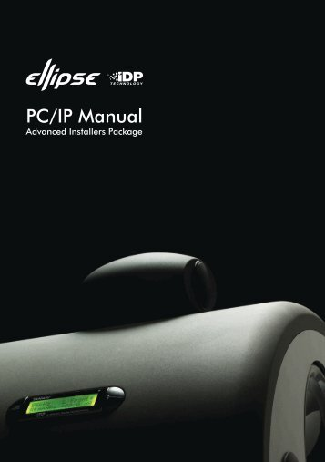 Ellipse iDP PCiP Software Manual (787.3 KB.pdf) - Tannoy