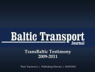 Piotr Trusiewicz, Baltic Transport Journal - TransBaltic