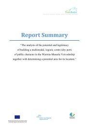 dry port pre-feasibility study_Executive summary (ENG) - TransBaltic
