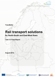 Rail transport solutions for north-south and east-west ... - TransBaltic