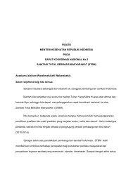 Pidato Menteri Kesehatan di Rakornas II STBM