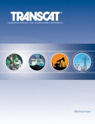 Annual Report 2008 - Transcat