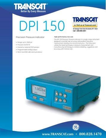 Druck DPI150 Precision Pressure Indicator - Transcat