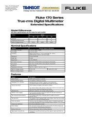 Fluke 170 Series True-rms Digital Multimeter Extended ... - Transcat