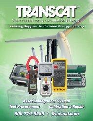 Wind Turbine Tools Catalog - Transcat