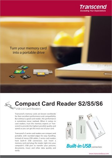 Compact Card Reader S2/S5/S6 - Transcend
