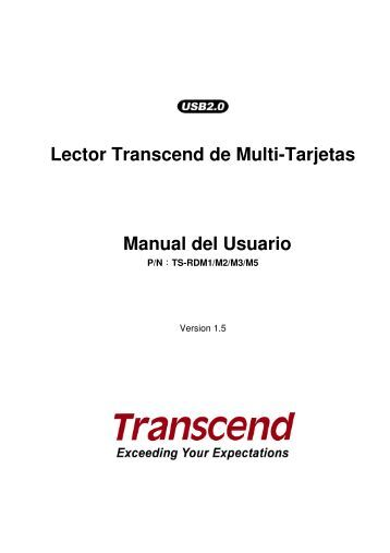 Lector Transcend de Multi-Tarjetas Manual del Usuario