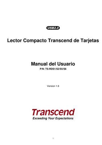 Lector Compacto Transcend de Tarjetas Manual del Usuario