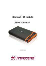 StoreJet 25 mobile User's Manual - Transcend