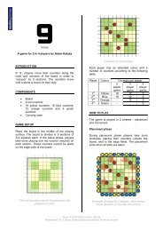 9 (nine) A game for 2 to 4 players by Adam Kałuża ... - nestorgames
