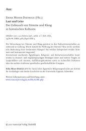 Erika Meyer-Dietrich (Hg.) Laut und Leise Der ... - transcript Verlag