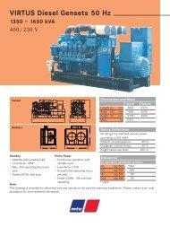 VIRTUS Diesel Gensets 50 Hz 1350 – 1650 kVA - TransDiesel
