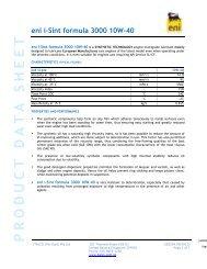 ENI I-SINT FORMULA 3000 10W-40 - TransDiesel