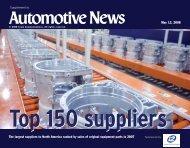 Top 150 Suppliers - Automotive News