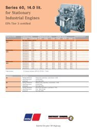 Series 60, 14.0 lit. for Stationary Industrial Engines - TransDiesel