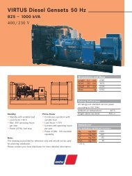 VIRTUS Diesel Gensets 50 Hz 825 – 1000 kVA - TransDiesel