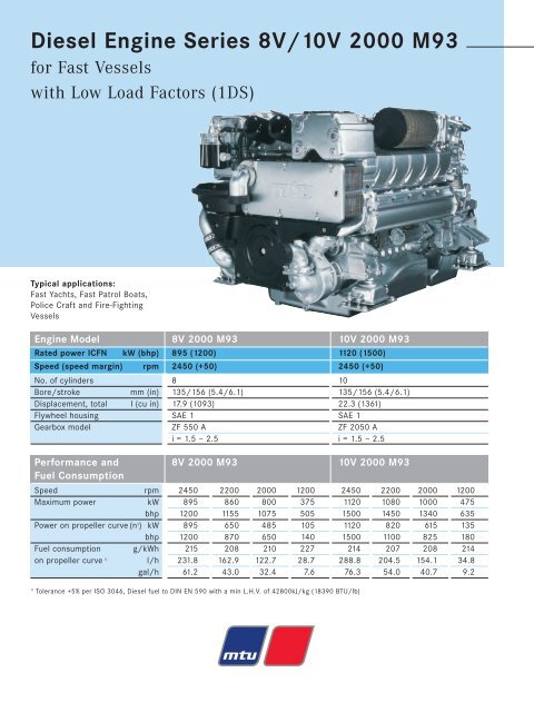 Diesel Engine Series 8V/10V 2000 M93 - TransDiesel