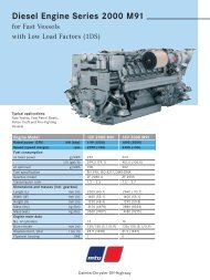 Diesel Engine Series 2000 M91 - TransDiesel