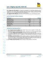 ENI I-SIGMA TOP MS 15W40 - TransDiesel